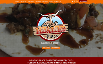 New Website Launch for The Meating Place!